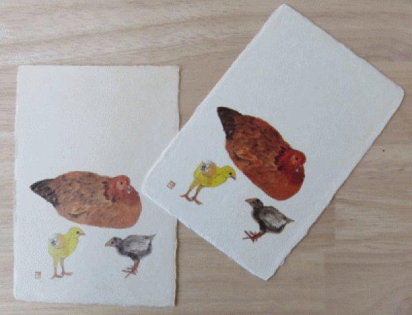 画像1: 林功画 絵はがき 鳥 (1)