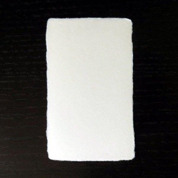 画像1: 111:越前和紙 一枚漉き耳付名刺(紳士用)サンプル(1枚) (1)