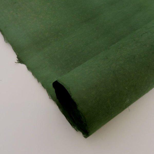 画像1: 無地染紙 深緑 (1)