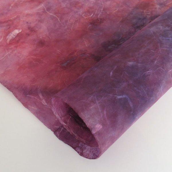 画像1: むら染め雲龍 濃いピンク+紫 (1)