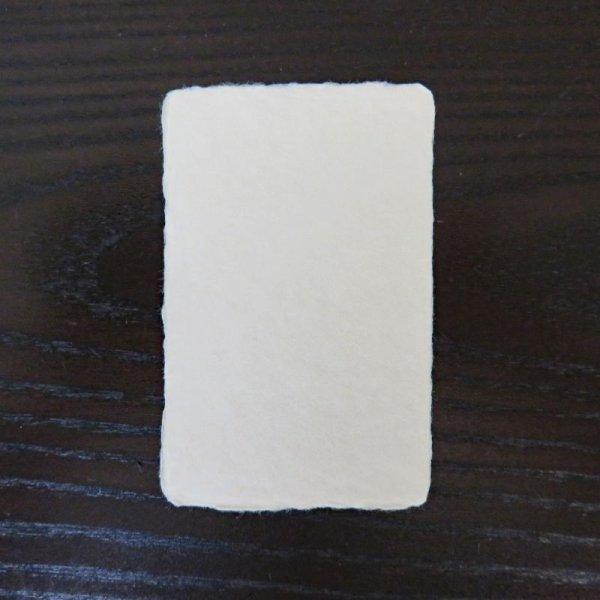 画像1: 129:阿波和紙 耳付き名刺 サンプル(1枚) (1)